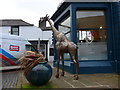 NY2623 : Sculpture in Lake Road by Basher Eyre