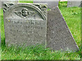 SK6929 : Hickling Churchyard - slate headstones by Alan Murray-Rust