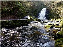 J3996 : Waterfall, Gleno by Kenneth  Allen