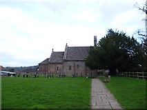 SO4430 : The rear of the parish church of St. Mary & St. David at Kilpeck by Jeremy Bolwell