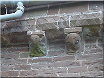 SO4430 : A Sheela Na Gig carving at Kilpeck church by Jeremy Bolwell