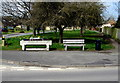 SP0228 : Jubilee Bench and former cattle trough, Winchcombe by Jaggery