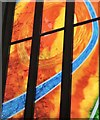 SJ9494 : New windows at St George's: East window detail by Gerald England