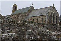 NU1241 : St Mary's Church, Holy Island by Stephen McKay