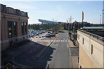 SJ7696 : Service road at the Trafford Centre by Bill Boaden