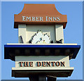 NZ2065 : Sign for the Denton pub by JThomas