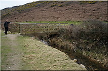 SW8471 : Footbridge on the South West Coast Path at Porth Mear by Ian S