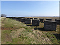 NU0742 : Anti-tank defences  near the Holy Island Causeway by Oliver Dixon
