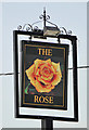 TM2335 : The sign of The Rose pub, Shotley by Adrian S Pye