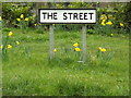 TM0466 : The Street sign by Adrian Cable