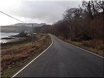 NM5643 : A848 along Salen Bay by Steven Brown