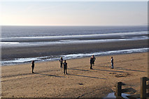 ST3049 : Burnham-on-Sea : Sandy Beach by Lewis Clarke