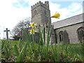 SX0558 : The parish church of  St Cyriacus & St Julitta, Luxulyan, Cornwall by Roger Smith