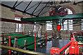 SJ4912 : Beam floor, Coleham Pumping Station by Chris Allen
