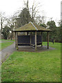 TM0262 : Shelter & seat at King George's Field by Adrian Cable