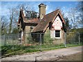 TL1907 : Smallford: Fire-damaged East Lodge at Oaklands by Nigel Cox