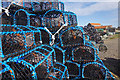 NU1241 : Lobster pots - Holy Island by Stephen McKay