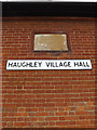 TM0262 : Haughley Village Hall sign by Adrian Cable