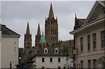 SW8244 : Truro Cathedral from Quay Street, Truro by Ian S