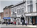 SU9949 : Guildford High Street, Angel Hotel (former Posting House and Livery Stables) by David Dixon