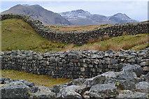 NY2101 : Inside Hardknott Roman Fort by David Martin