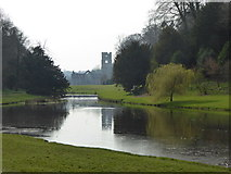 SE2768 : Fountains Abbey viewed from the east by Rod Allday