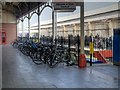 SU9676 : Bicycle Rack, Windsor and Eton Central Station by David Dixon
