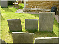SK7123 : Early 19th century slate headstones, Wartnaby by Alan Murray-Rust