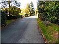 SO4494 : Roadside bench, Burway Road, Church Stretton by Jaggery