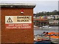 ST5772 : Sluices opening by Neil Owen