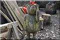 SK0985 : Wooden bear on guard at Lee House by Bill Boaden