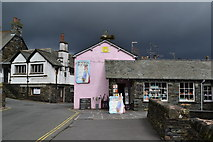 SD3598 : Stormy skies over Hawkshead village by David Martin