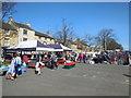 SP2032 : Street market, Moreton In Marsh by Paul Gillett