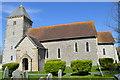 TQ4700 : St Andrew's church, Bishopstone by Julian P Guffogg