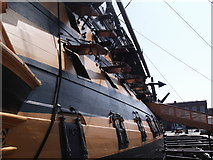 SU6200 : Starboard side, HMS Victory, Historic Dockyard, Portsmouth by Robin Sones