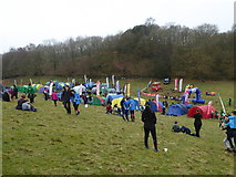 SD3583 : The assembly area for Day 3 of the JK Orienteering Festival 2015 by Rod Allday