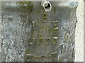 SK6826 : Initials and date, water cistern at Willow Farm by Alan Murray-Rust
