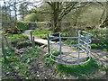 SD6526 : Gate & bridge near Willow Ground Field by Greum