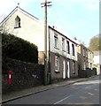 ST0595 : Postbox in a Heol-y-Mynach wall, Ynysybwl by Jaggery
