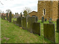 SK6826 : Slate headstones, Upper Broughton Churchyard by Alan Murray-Rust