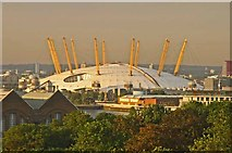 TQ3980 : Millennium Dome from Greenwich Park by Andrew Tatlow