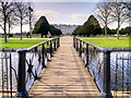 TQ1568 : Footbridge over South Canal, Hampton Court Palace by David Dixon