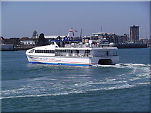 SZ6299 : Wight Ryder II turning in Portsmouth Harbour by Robin Sones