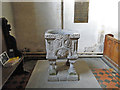 TF7132 : The Norman Font at Shernborne and a memorial to 2 brothers by Adrian S Pye