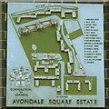 TQ3478 : Avondale Square: estate map by Stephen Craven