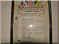 TG3109 : The Roll of Honour in Witton St. Margaret's church by Adrian S Pye