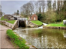 SE1039 : Bingley Five-Rise Locks, The Bottom Lock by David Dixon