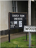 TM0259 : Church Room sign by Adrian Cable