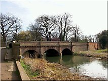 TF1309 : The bridge at Market Deeping, near Bourne, Lincolnshire by Rex Needle