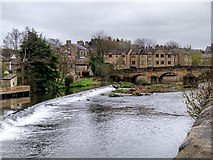SE1039 : Bingley Weir and Ireland Bridge by David Dixon